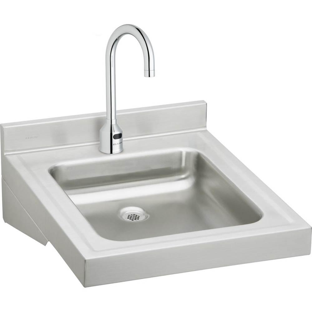 elkay sink u0026 sensor faucet package wall mount bathroom sinks