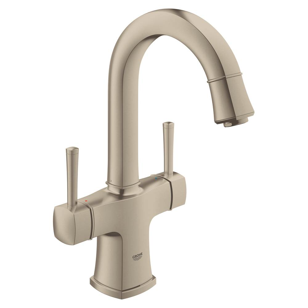 Grohe 21108EN0 At The Kitchen + Bath Design Studio Decorative Plumbing  Showrooms Florida Single Hole Bathroom Sink Faucets In A Decorative Brushed  Nickel ...